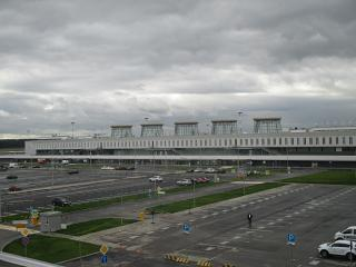 Airport terminal Pulkovo-1 in Saint Petersburg