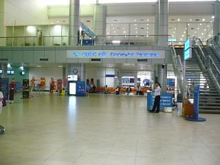 In the terminal of Cam Ranh airport