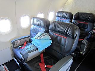 Бизнес-класс в самолете Airbus A321 Турецких авиалиний