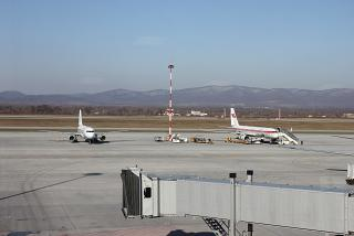 The platform Knevichi airport in Vladivostok