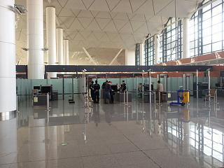 Security area at the airport Shenyang Taoxian international