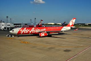 The Airbus A330-300 AirAsia X airport don Muang