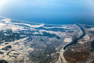 Город Рига, аэропорт и побережье Балтийского моря