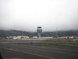 The control tower of the airport of Tenerife North