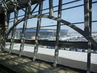 The terminal of the airport Vladivostok from the station of Aeroexpress