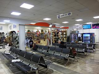 The waiting room at the airport in Rostov-on-don