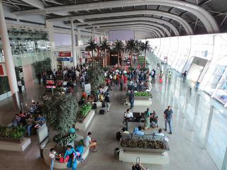 Area of gates at the airport Mumbai Chhatrapati Shivaji