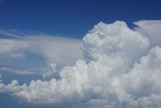 Cumulus clouds over Italy