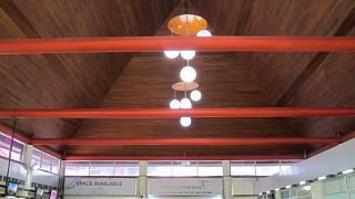The ceiling of the passenger terminal pattimura airport
