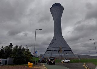 The control tower of Edinburgh airport