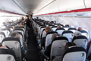 The cabin of the aircraft Airbus A320 Air France