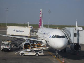 Airbus A320 Qatar Airways at Nairobi airport
