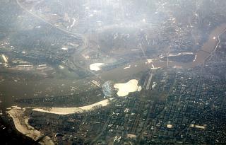 Flying over the downtown Washington the capital of USA