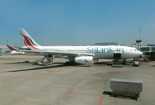 Airbus A330-200 airlines SriLankan at Colombo airport