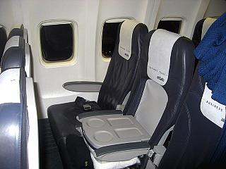 Interior business class aircraft Boeing-737-300 airline, airBaltic