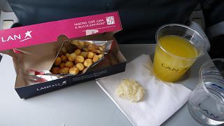 Бортпитание на рейсе Богота-Картахена авиакомпании LAN