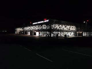 Вид с перрона на новый пассажирский терминал аэропорта Запорожье