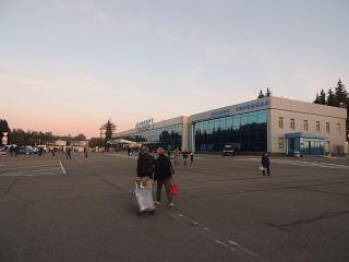 The main terminal building of the airport of Barnaul
