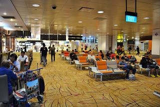 Waiting room in terminal 2 of Changi airport in Singapore
