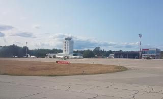 The apron business aviation airport of Pula