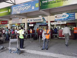 Стойки регистрации в аэропорту Занзибар