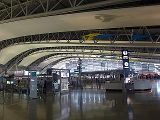 The check-in area for flights at the airport Osaka Kansai