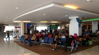 The waiting room in domestic terminal of airport Denpasar Ngurah Rai international