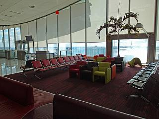 Place to wait in a clean area of terminal 2C of the airport Paris Charles de Gaulle