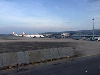 The platform of the airport Colombo Bandaranaike international