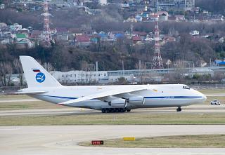 "Antonov An-124-100 ""Ruslan"" in the airport of Sochi"