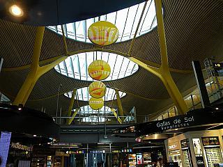 In terminal 4 of Madrid-Barajas airport