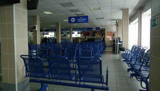 The waiting room at the airport Yelizovo of Petropavlovsk-Kamchatsky