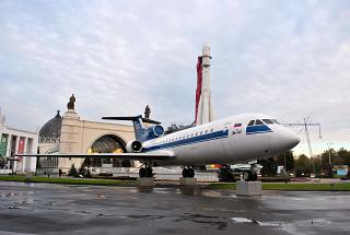 The Yak-42 at the VDNKH in Moscow