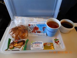 Завтрак на рейсе авиакомпанииНордАвиа  Сыктывкар-Москва