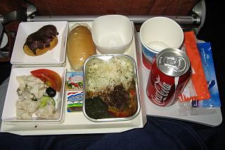 Meals on Aeroflot flight Havana-Moscow