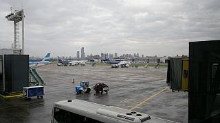 The tarmac of airport Buenos Aires, Jorge Newery