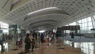 Boarding area at Hong Kong International airport