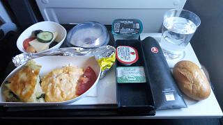 Breakfast on flight Istanbul-Bangkok Turkish airlines
