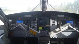 The instrument panel in the aircraft DHC-6 Twin Otter