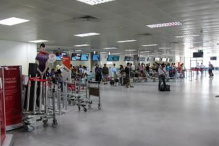 Inside the airport's Terminal 2 Phuket