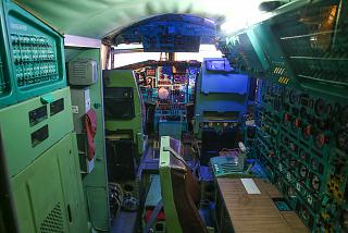 Cockpit of the Tu-144 in the Museum of technology in Sinsheim