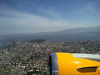Takeoff from airport Rio de Janeiro Gale