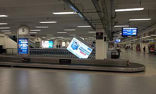 The baggage claim hall in terminal 1 of Mexico city airport, Benito Juarez