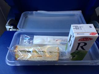 A meal on the Aeroflot flight Moscow-Anapa