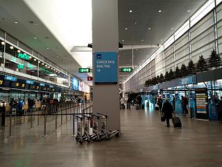 The reception area is on the SAS flight in terminal 5 of Stockholm airport Arlanda