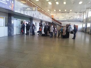 In the terminal building of the airport of Chita