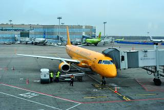 Embraer E-195 Saratov airlines at Domodedovo airport