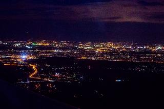 Night Moscow. Right - Ostankino tower.