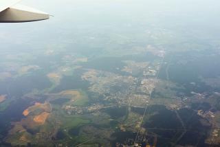 Вид сверху на город Обнинск
