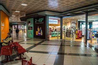 Shops in clean area of the Palermo airport